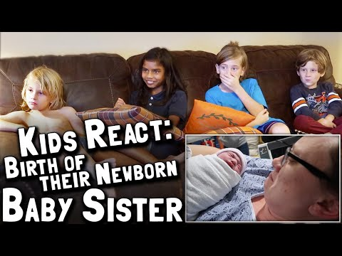 Kids React to the BIRTH of their newborn baby sister!