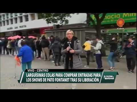 Largas filas para comprar entradas para el show del Pato Fontanet en Córdoba