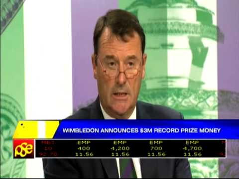 Wimbledon Announces $3-M Prize Money