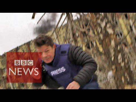 Ukraine: Fleeing artillery fire during ceasefire