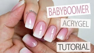 How to: Perfect Baby Boomer Nails - French Ombre With AcryGel Tutorial