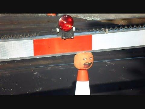 The Stupid Orange In Cone Head