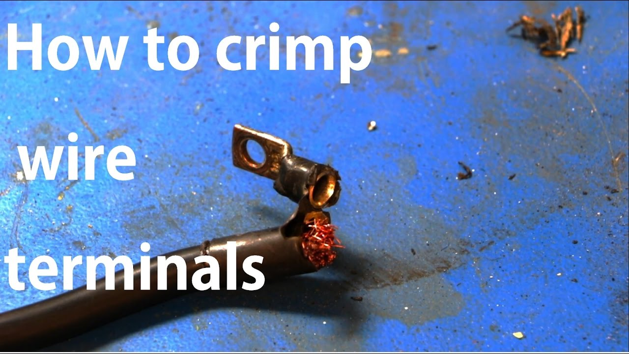 How To Crimp A Battery Terminal Without A Crimper