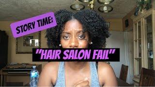 """Story Time   Hair Salon Fail w/ 4c Natural Hair- """"I Am Not White"""""""