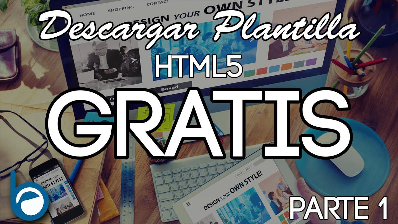 Descargar Plantilla Html5 Gratis y editarla (parte 1) - YouTube