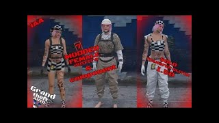 Grand theft auto 5 CREATE 7  FEMALE TRYHARD  OUTFITS & COMPONENTS TRANSFER GLITCH 2020