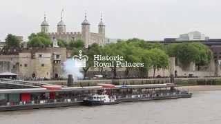 The Tower of London returns gun salute to the FGS Niedersachsen
