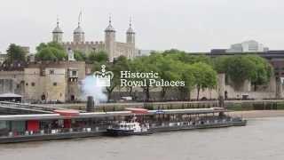 The Tower of London returns gun salute to the FGS Niedersachsen