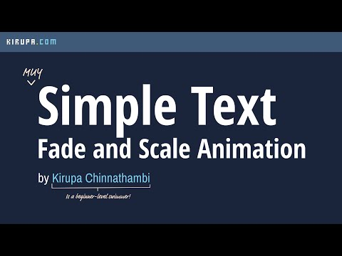Creating a Text Fade and Scale Animation in CSS