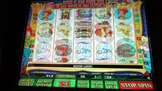 Texas Tina Slot $1 denomination live play with bonus-$20 betting per spin