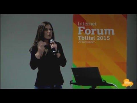 #13 ივნისი | ნინო ეგაძე | Internet Forum Tbilisi 2015