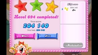 Candy Crush Saga Level 694   ★★★   NO BOOSTER