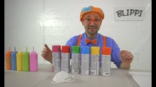 Blippi Painting Giveaway | Learn Colors With Paint thumbnail