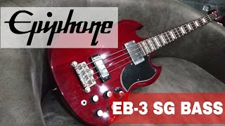 Epiphone EB-3 SG Bass Guitar Cherry Red Review