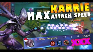 rahasia karie full attack speed mobile legends