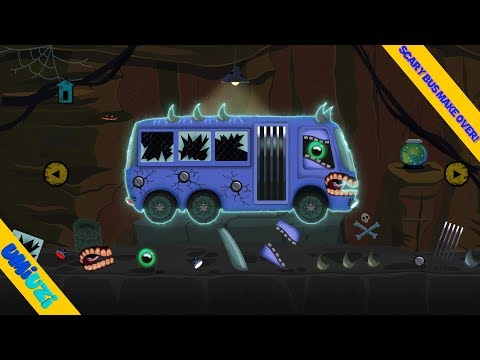 Umi Uzi and scary bus | vehicle assembly | street vehicles for children