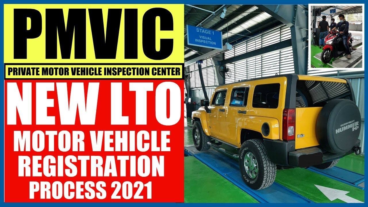 LTO NEW REGISTRATION PROCESS | PMVIC | PRIVATE MOTOR VEHICLE INSPECTION SYSTEM
