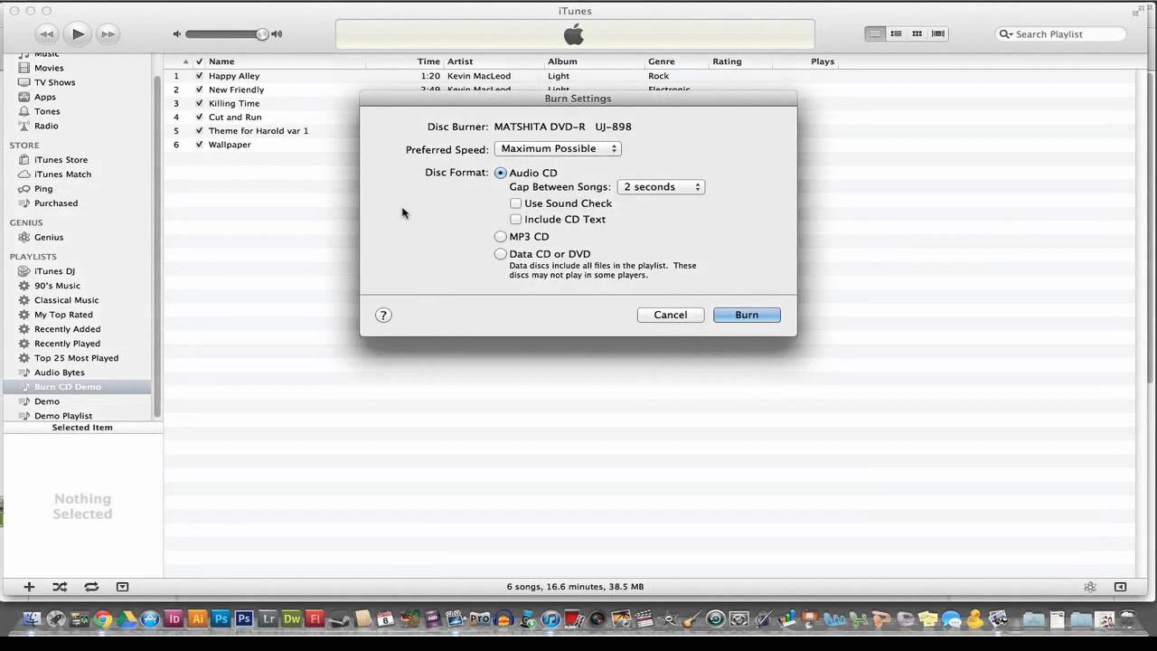 iTunes Tutorial - How to Burn A CD Using iTunes