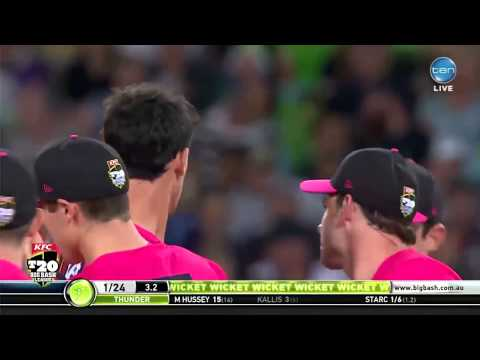 Mitchell Starc destroys stump cam, chats post Sydney Smash!