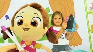 Türkçe izle - eğitici kız çocuk oyunları/videoları.Elis ve çizgi film oyuncağı Niloya ile evcilik