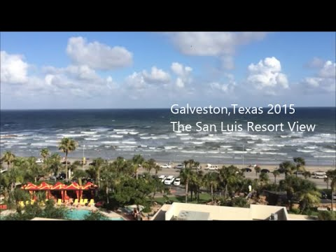 galveston beach gulf view 2015 san luis resort hotel youtube. Black Bedroom Furniture Sets. Home Design Ideas