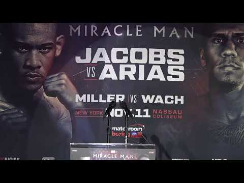 Daniel Jacobs VS. Luis Arias Heated Matchroom Boxing USA Press Conference