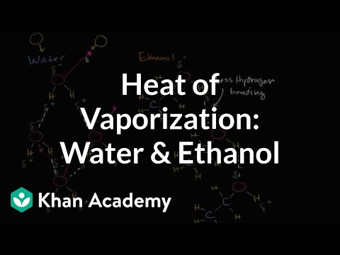 Heat of vaporization of water and ethanol | Biology | Khan Academy