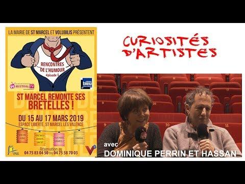 Curiosités d'artistes   Dominique perrin et Hassan   les rencontres de l'Humour à St Marcel lès Vale