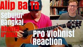 Alip Ba Ta, Sebujar Bangkai, by Rhoma Irama, Pro Violinist Reaction