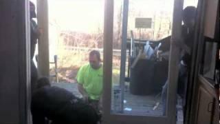 Replacing an aluminum sliding door with a Marvin French door