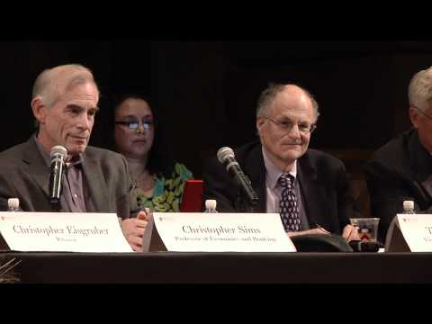 Princeton news conference with Nobel Prize in economics winners Sims, Sargent