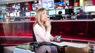 BBC News Reader Surprised, Caught LIVE on her mobile - You