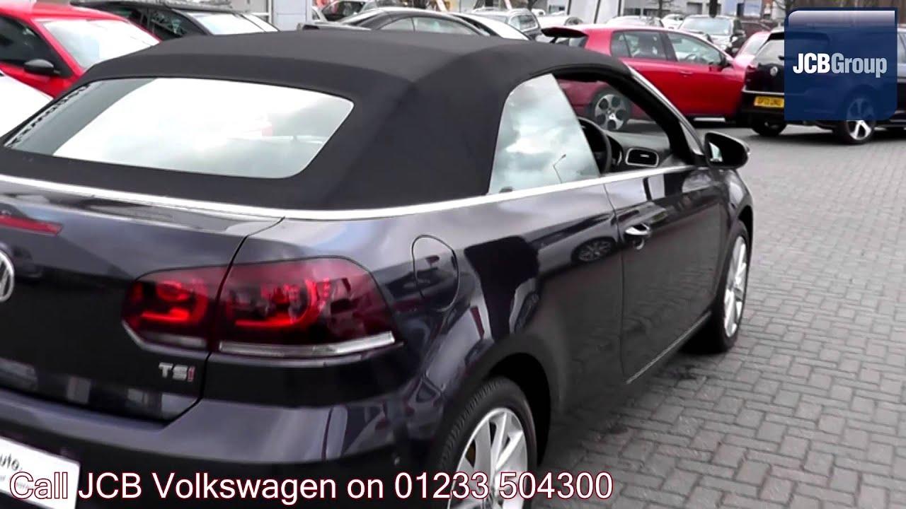2013 Volkswagen Golf Cabriolet SE 1.4l Dark Purple Metallic GJ63CMZ for sale at JCB VW Ashford ...