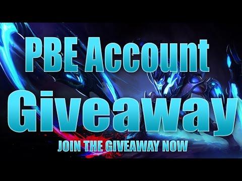 Lol pbe account giveaways