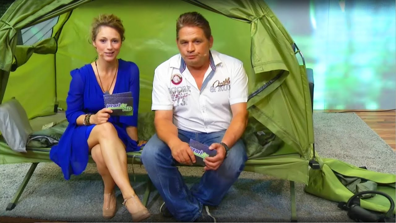 semptec 4in1 zelt inkl schlafsack matratze & campingliege