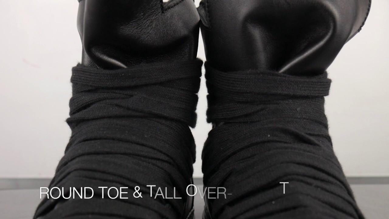 Kris Van Assche Multi-Laced High-Top Sneaker (Black Black) - A Detailed Look 332e537fd