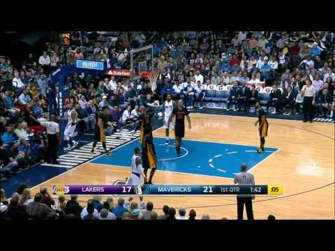 Jeremy Lin Blocks Devin Harris Lakers vs Mavericks December 26, 2014 NBA