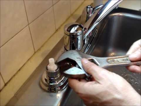 Replace a Moen Kitchen Faucet Cartridge - YouTube
