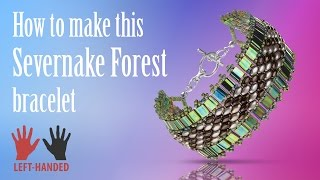 Left-handed ★ How to make this Savernake Forest Bracelet | Seed Beads