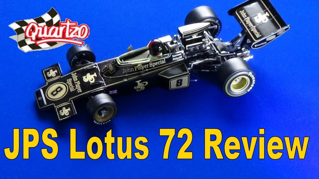 1:18 Quartzo Lotus 72D World Champion Fittipaldi 1972 JPS