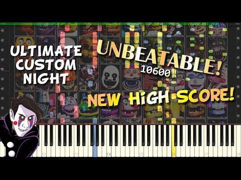 🎹 Synthesia | New High Score! - FNaF: Ultimate Custom Night (+Sheet Music) [HD]