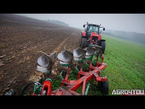 Ciężka Orka w Deszczu na 2 Fergusony [GoPro4] Massey Ferguson 6485 & Agromasz MF 7495 & Lemken