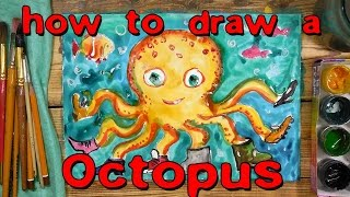How to draw an octopus / Underwater World