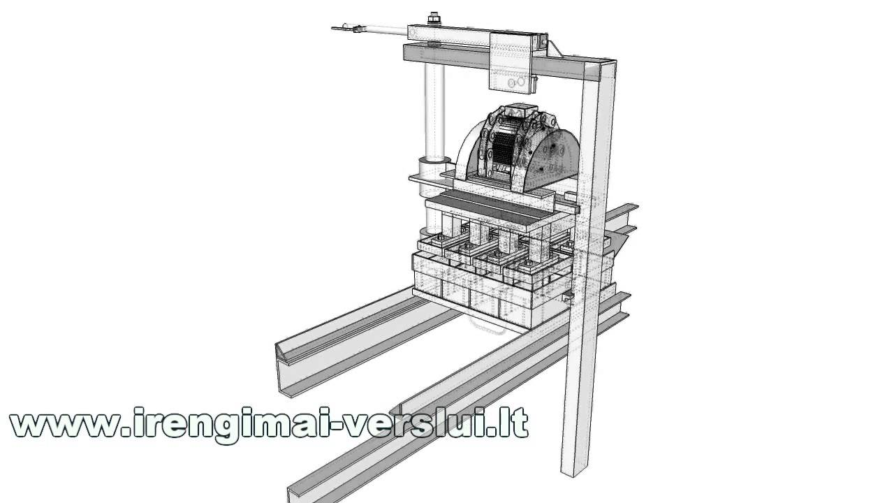 How it's made. Manual Brick Making Machine Construction