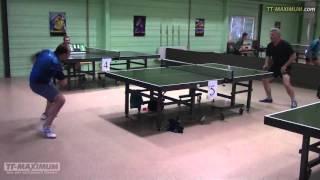 Настольный теннис: эпическая битва с видеокамерой. Table tennis: the epic battle against videocamera(Хорошо что в Метеорите на центральном столе играли. Страшно представить что было бы в зале где стены узкие...., 2016-02-05T16:13:26.000Z)