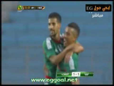 اهداف مباراة المغرب 1-1 ليبيا ||تصفيات امم افريقيا || 3-6-2016