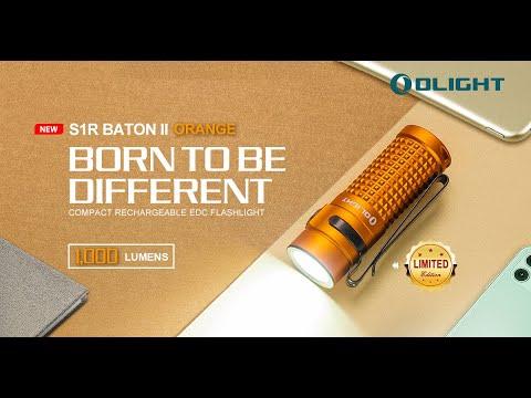 Senter Olight S1R Baton II Orange 1000 Lumens Limited Edition Flashlight LED Rechargeable