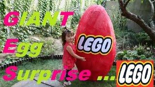 Lego Giant egg surprise - huge egg lego set - big egg - biggest egg - opening