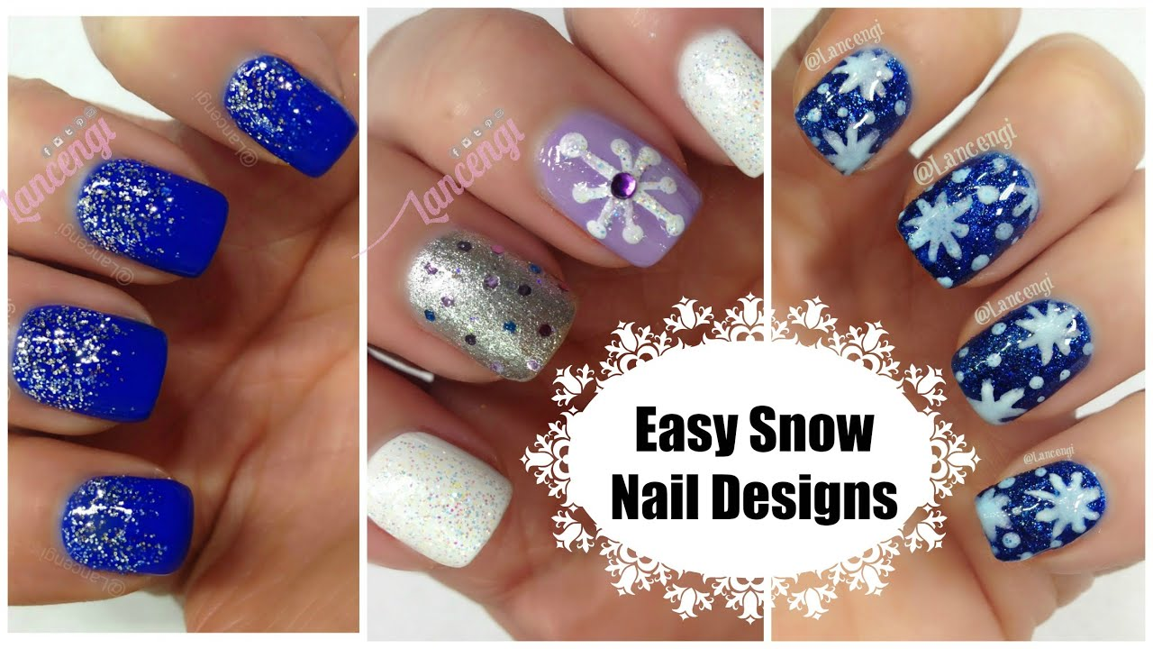 DIY Cute Easy Snowflake Christmas Nail Polish