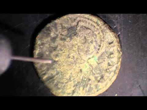 Cleaning Roman Coins - Time Lapse